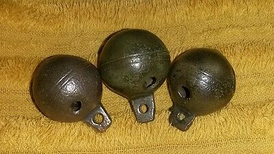 3x Medieval German Bell 16th / 17th Century well decorated Original smooth sound