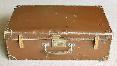 "Vintage Suitcase - Brown, Small 20"" Retro, Storage, Luggage, ideal Prop."