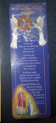Christmas Star Bookmark With Star Stamped Penny New