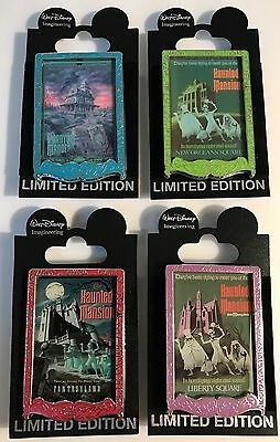 Disney - WDI - Three Haunted Mansion and Phantom Manor Poster LE 300 Pin Set