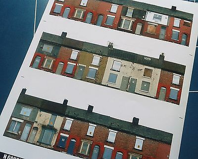 Model railway - Disused Terrace Houses and Warehouses N Gauge