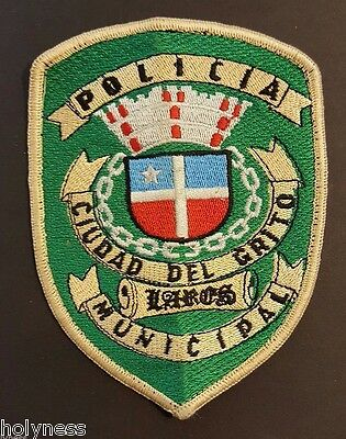 Vintage Puerto Rico Police Patch / Policia Municipal / Lares Pr / Older Style