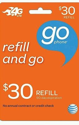 AT&T Go Phone $30 Refill, applied to phone directly