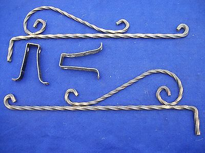 OLD-ANTIQUE-VINTAGE  IRON SWING A WAY DRAPERY/CURTAIN RODS - 1 pr.