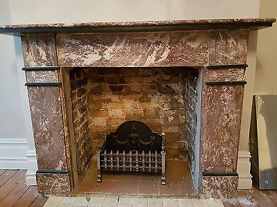 Victorian Rouge Marble Fireplace
