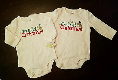 Carter's NWT My First Christmas long sleeve top 3 months