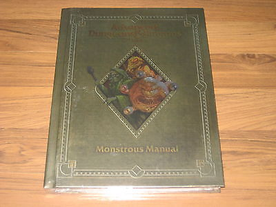 AD&D 2nd Edition Monstrous Manual 2.0 Edition Premium Reprint HC WotC 2013 NM