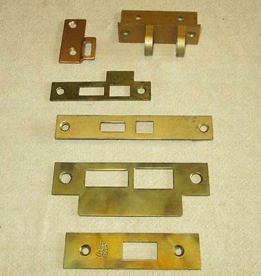Vintage Door Lock Latch Strike Plates Mortise Hardware Parts lot Stanley Yale