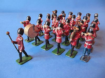 Vintage Lead Toy Soldiers British Army Marching Band. Johill. Made In England