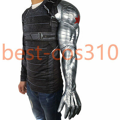 Bucky Arm Sleeve for Winter Soldier Bucky Arm Armour Props Cosplay Costume New