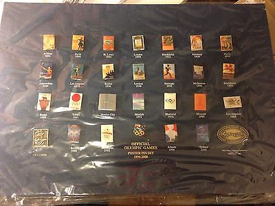 SYDNEY 2000 OLYMPIC GAMES Pin Set Official Poster Collection 1896-2000 •on Board