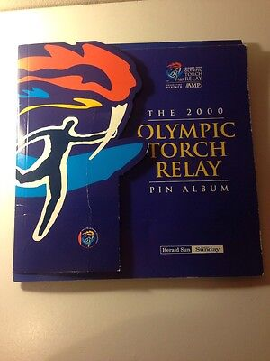 Sydney 2000 Olympic Torch Relay Pin Album - Complete!