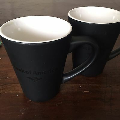 Bank of America COFFEE MUGS - lot of 2 - #2C11