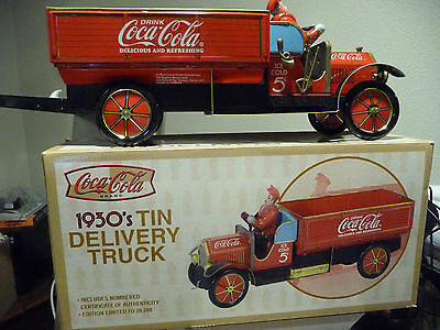 1930 tin toy NEW Delivery truck coca cola Limited Edition