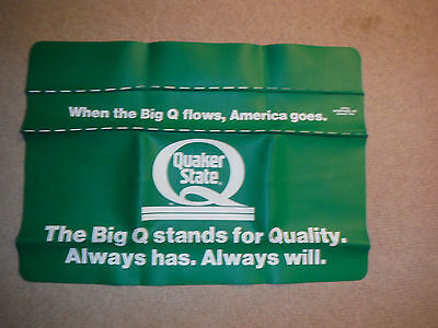 Quaker State Oil Advertising Fender Cover Made In U.s.a.