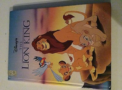 """The Lion King Vintage Book 1994 Hardcover Disney Mouse Works 11.5"""" Sim a Muffs a"""