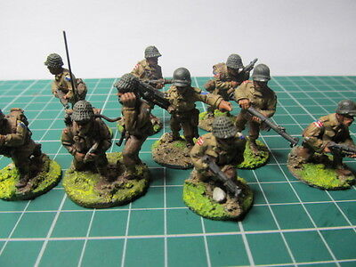 WW2  25mm American 29th Infantry X10 Painted