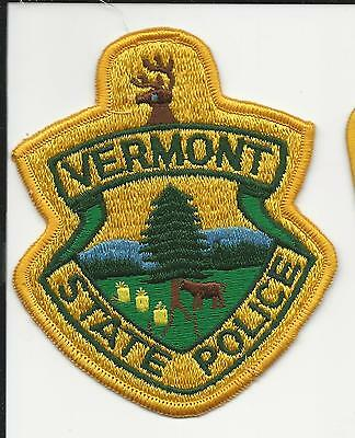 State Police  Vermont Vt with cloth back