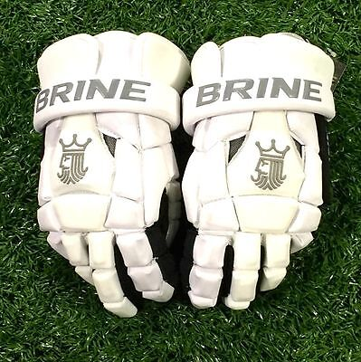 "Brine King Superlight 2 12"" White Lacrosse Gloves"