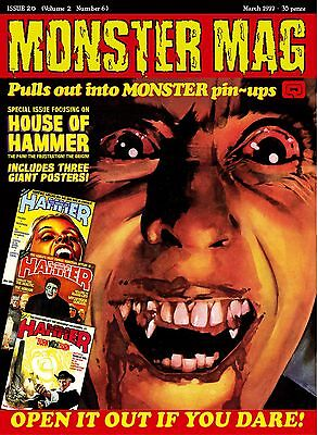 CYBER MONDAY Monster Mag 20 - House of Hammer poster special!
