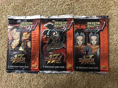 Lot of 3 Dragonball GT Super Saga 17 Booster Card Game Packs NEW SEALED