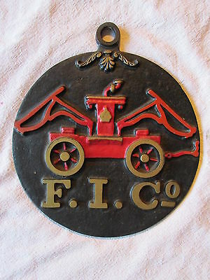 Cast Iron Fire Insurance Co. Wall Hanging Wall Plaque Fire Mark