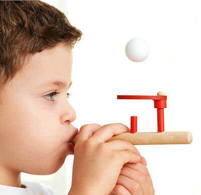 Wood Wooden Ball Blower Oral Motor Speech Therapy Autism Training Classic Toy