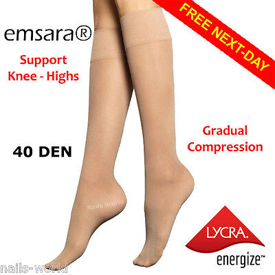 FREE NEXT-DAY Lycra® Compression Knee-High Support Socks Tights Stockings Flight
