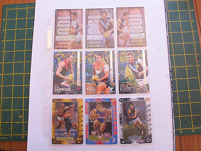 2016 Afl Select Footy Stars @ Teamcoach Cards X 27 Mint