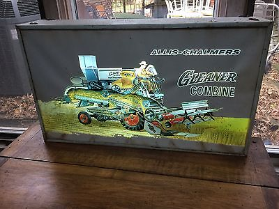 vintage Allis Chambers Gleaner lighted  mechanical  sign