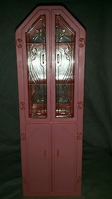 Vintage Barbie Doll Furniture 1987 Sweet Roses Wall Unit Curio Cabinet 4772