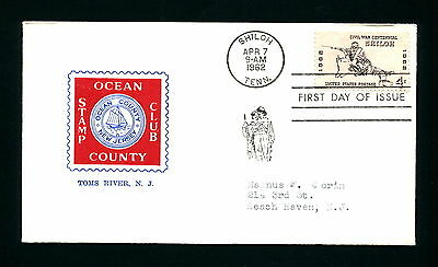 Sc. 1179 Shiloh FDC - Ocean County Stamp Club