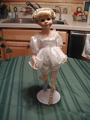 "Emerald Doll Collection Precious Porcelain Ballerina 17"" Blonde Hair"