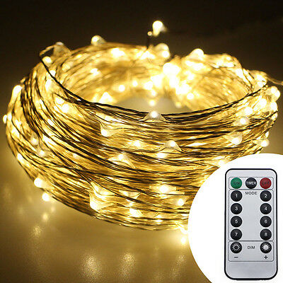 Battery Powered 20M 30M Copper Wire LED Rope Fairy String Lights Holiday Lights