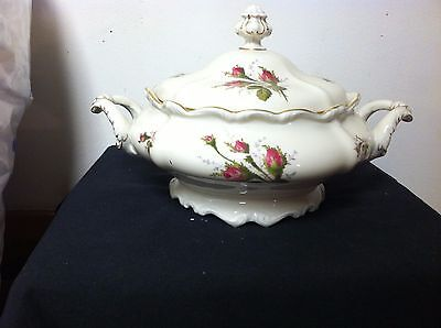 Rosenthal Pompadour Moss Rose Round Covered Vegetable Serving Dish