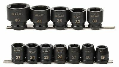 ARMSTRONG 48-893 3/4-Inch Drive 6-Point Metric Impact Socket Set, 12-Piece