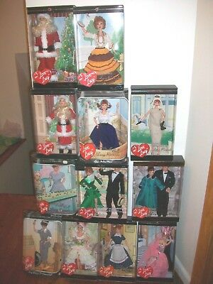 Lot of 12 I Love Lucy Barbie Operetta-Lucy Ricky Santa - SalesResistance BePal