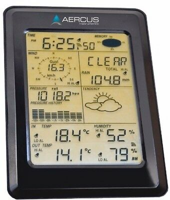 Weather Wireless Station Digital Clock Thermometer Touch Screen Outdoor Upload