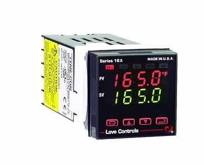 Dwyer Love Series 16A Temperature and Process Controller, Two Relay Outputs, wit