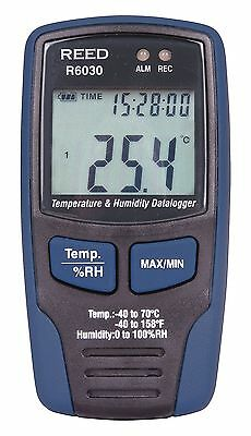 Reed Instruments R6030-NIST Temperature/Humidity Data Logger with NIST Traceable