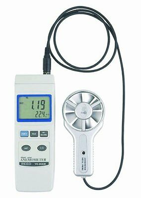 Reed YK-80AM Digital Thermo-Anemometer with Vane Probe, 0.4 to 35.0 m/s Velocity