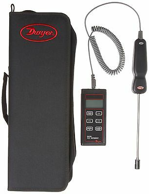 "Dwyer Digital Thermo-Hygrometer, 8"" Probe Length"