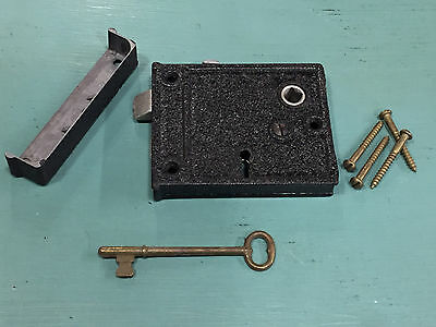 Vintage Rim Lock With Keep And Key