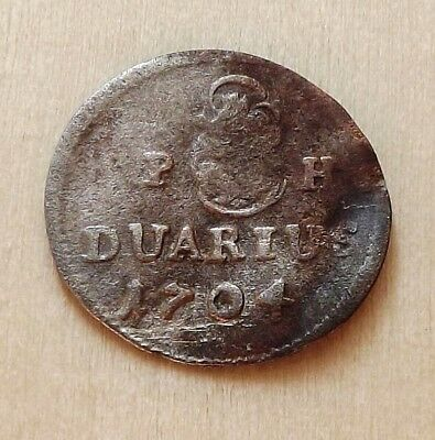 Hungary 1704-KB Duarius Leopold VF Silver |C3901