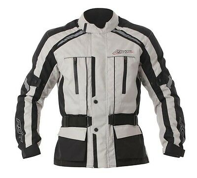 RST T100 Tour Waterproof Textile Touring Riding Jacket Silver/Black
