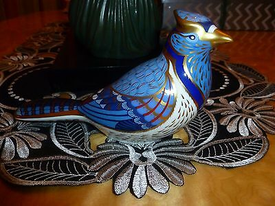"Royal Crown Derby Paperweight.  ""BLUE JAY"" Gold Stopper (Unboxed)"