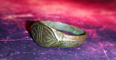 Ancient bronze ring with a stone!