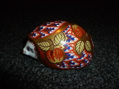 "Royal Crown Derby Paperweight.  ""Orchard Hedgehog"" Signed 1st Gold Stopper 1999"