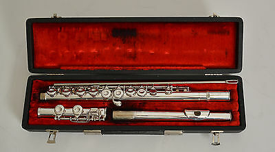 King Cleveland Silver-Plated Flute Overhauled Polished Plays Very Nicely 583