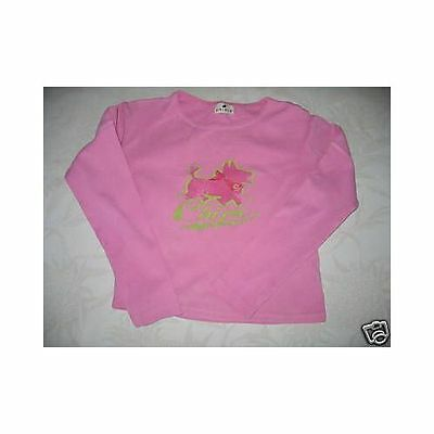 Sweat/tee shirt manches longues rose Chipie Taille 5 Ans